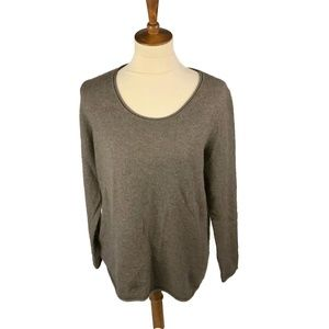 Peck & Peck  Cashmere Sweater Size XL Brown